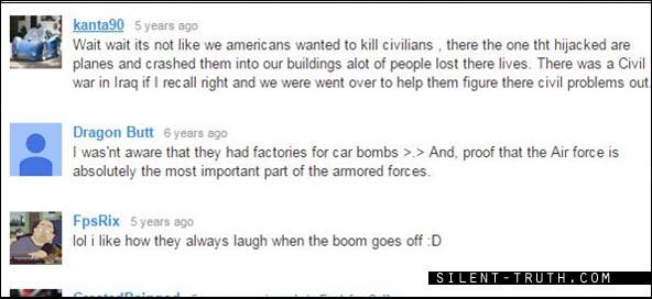 برخی نکته نظرات در زیر ویدئوی اصلی سال 2007